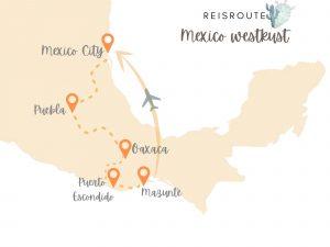 Reisroute Mexico Westkust