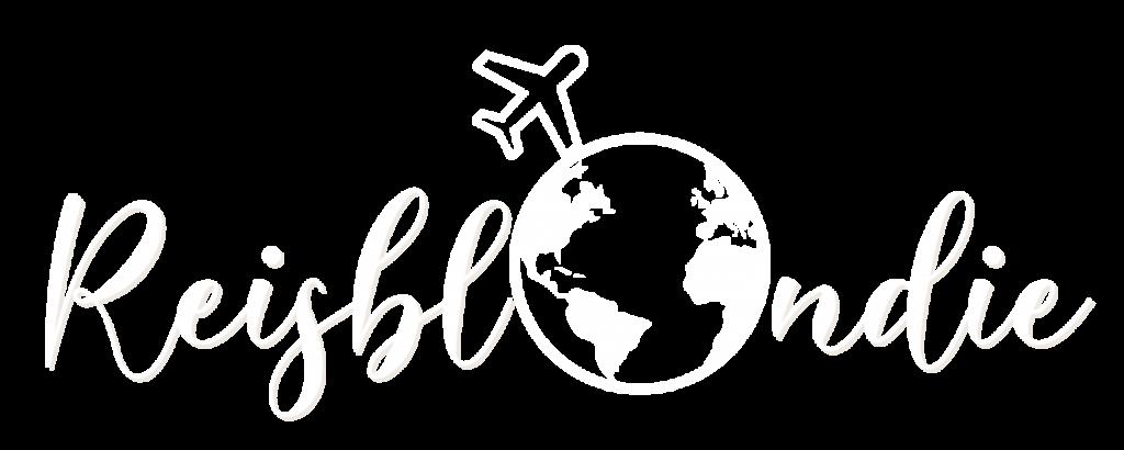 Reisblondie reizen blog logo