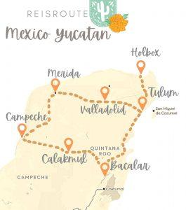 Reisroute Mexico Yucatan