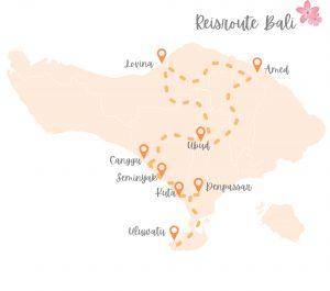 Reisroute Bali