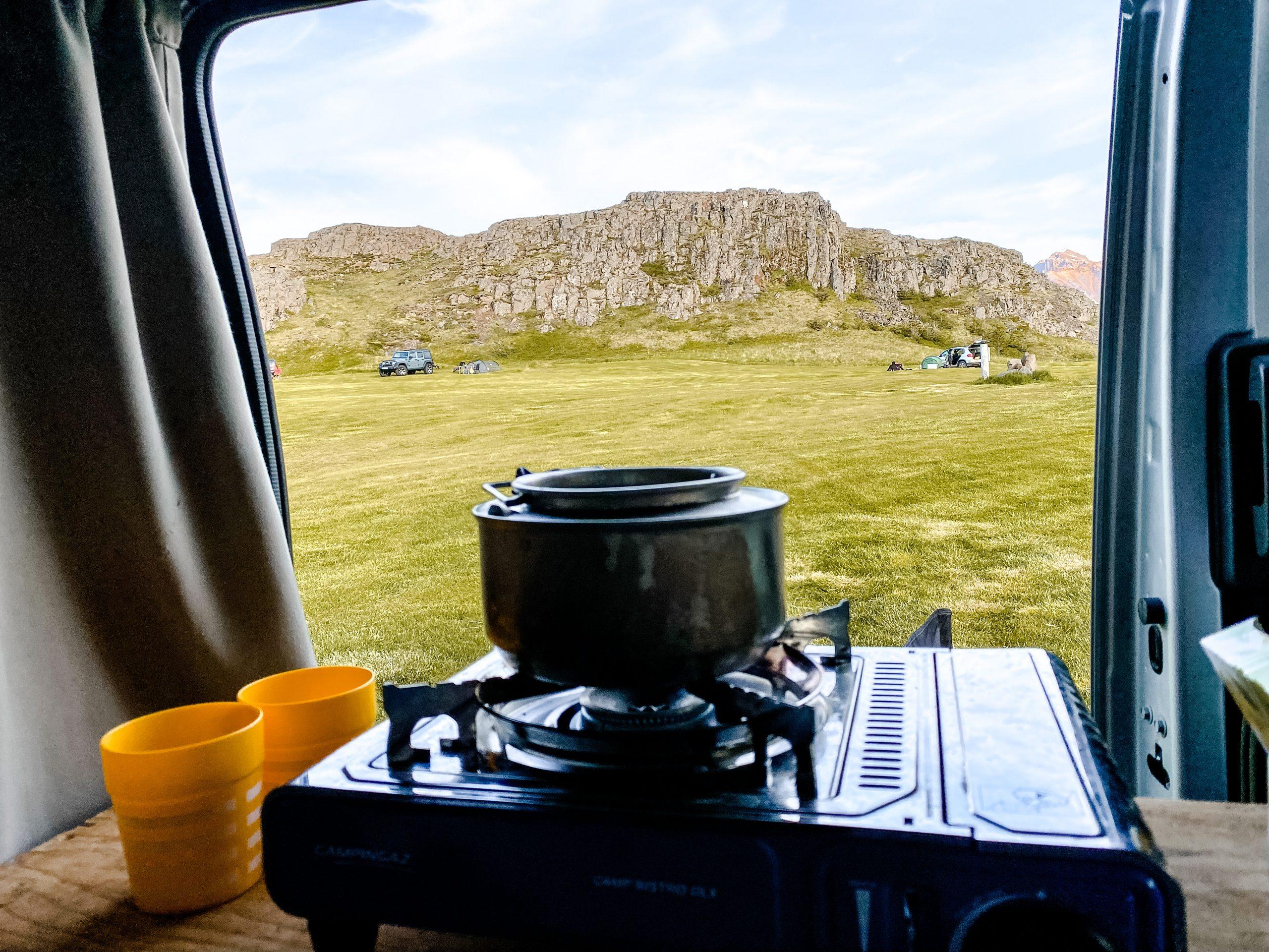Keuken Campervan Iceland Reisblondie