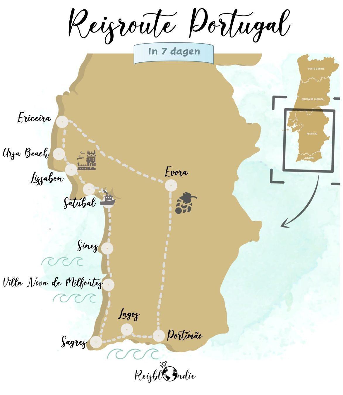 Reisroute Portugal 1 week